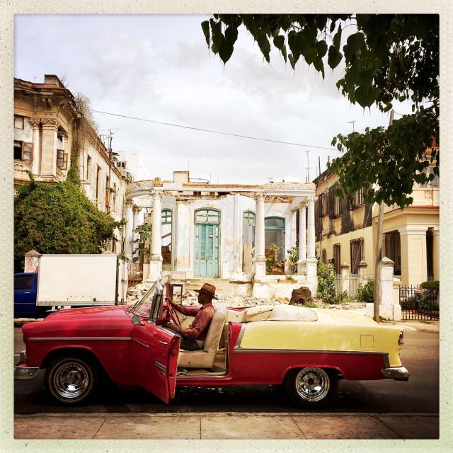 """""""Cuba Classico Driver"""" stock image"""