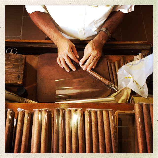 """Cuban Cigar Maker"" stock image"