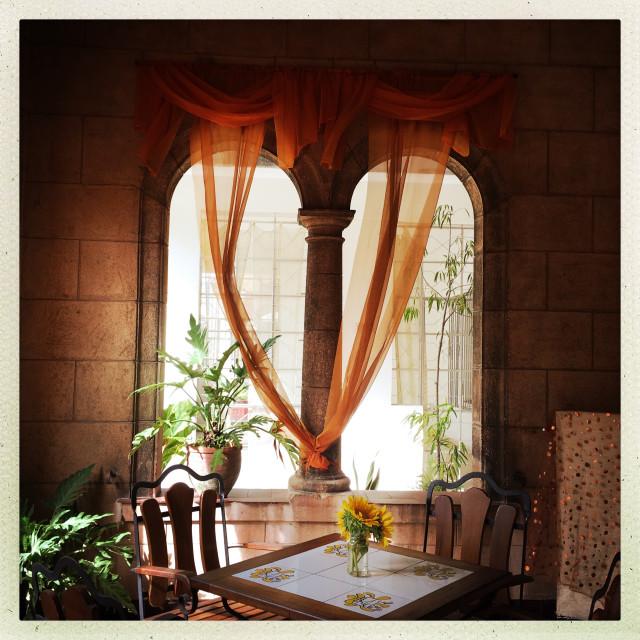 """Havana Arched Window"" stock image"