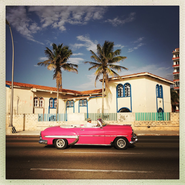 """Havana oceanside road"" stock image"