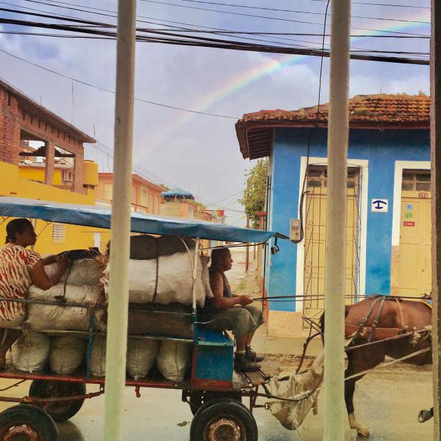 """Morning Rainbow"" stock image"