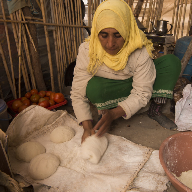 """""""berber tribe pizza cooking"""" stock image"""