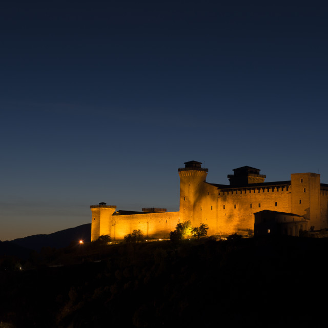 """the Spoleto stronghold"" stock image"
