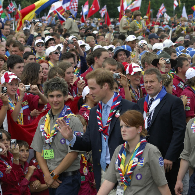 """""""boy scout's with the English prince"""" stock image"""