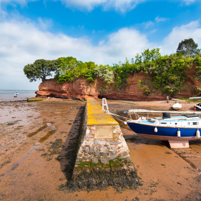 """The Boat Shelter at Lympstone."" stock image"