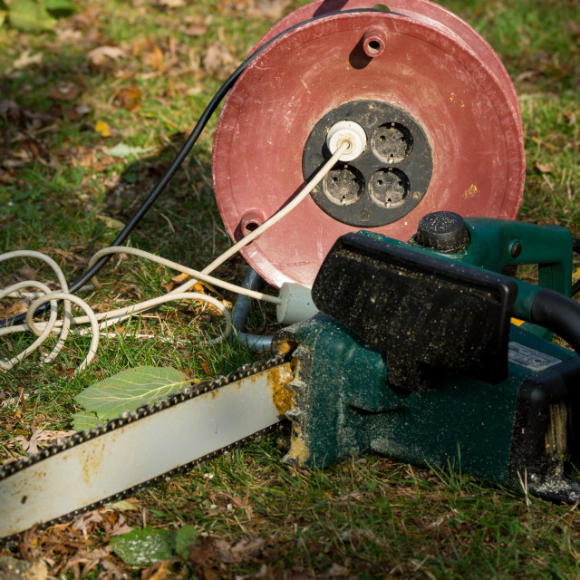 """""""Chainsaw"""" stock image"""