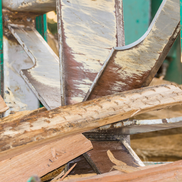 """""""Wood splitting"""" stock image"""