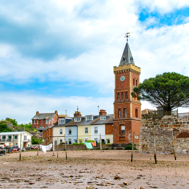 """Peter's Tower, Lympstone."" stock image"