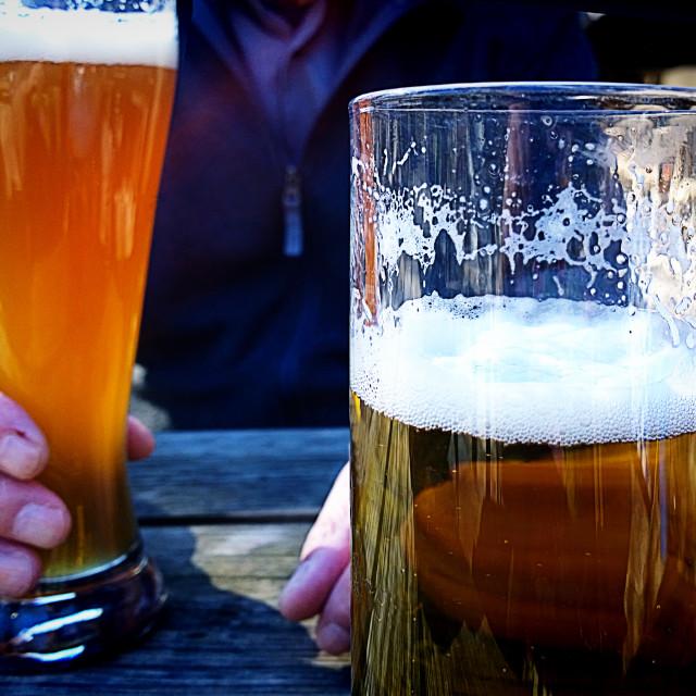 """""""Fresh beer at open air bar"""" stock image"""