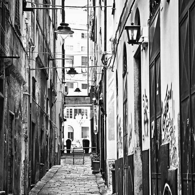 """Genova, Italy old town vicolo"" stock image"