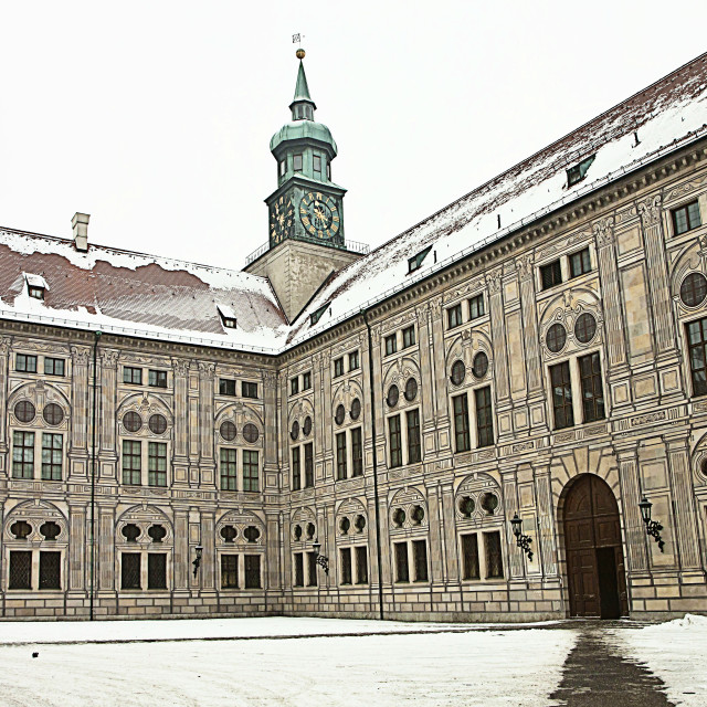 """Munich, Germany - Residenz Palace in winter"" stock image"