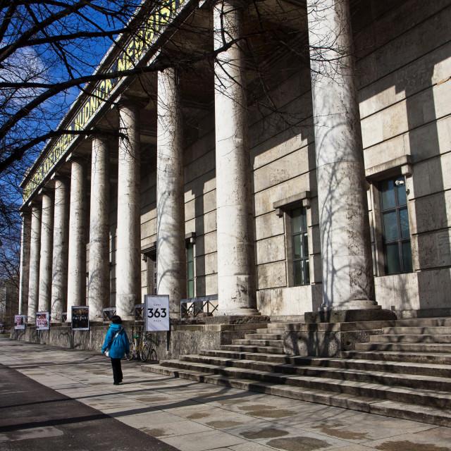 """""""Munich, Haus der Kunst (House of Art) modern art museum, facade"""" stock image"""