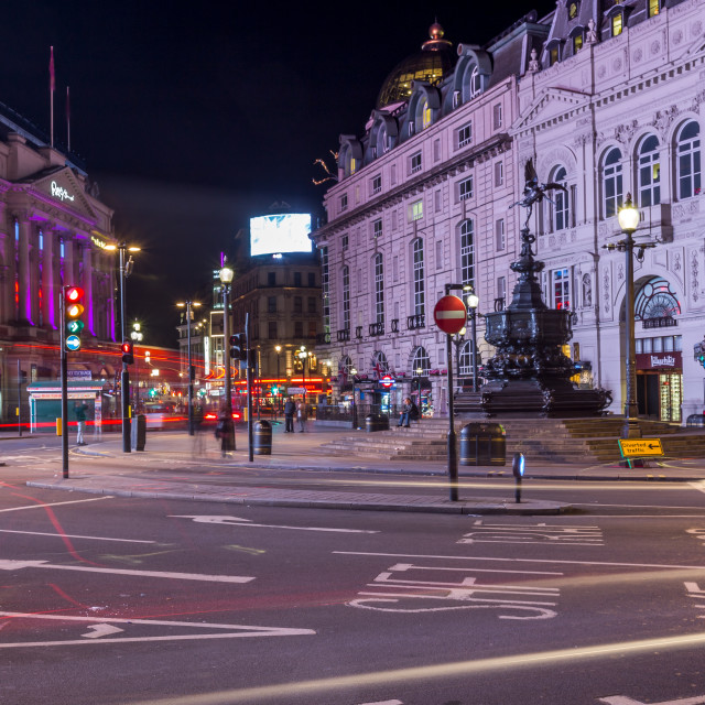"""""""Piccadilly Circus At Night"""" stock image"""