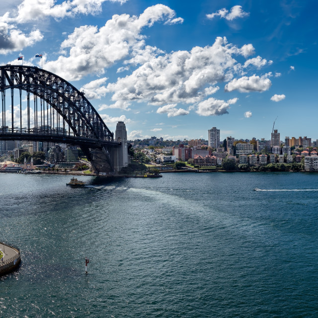 """Sydney Harbour Bridge Panorama"" stock image"