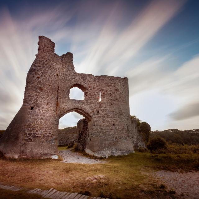 """Pennard Castle ruins"" stock image"