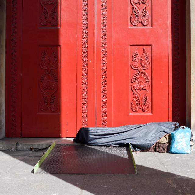 """Homeless London,UK."" stock image"