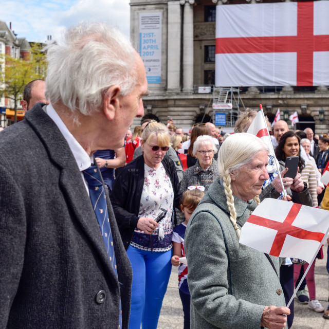 """""""St Georges Day in Nottingham"""" stock image"""