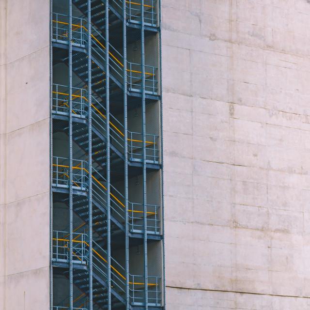 """Staircase through Concrete"" stock image"