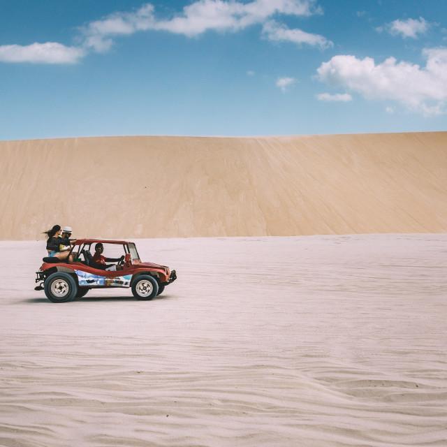 """Heading Through The Desert"" stock image"