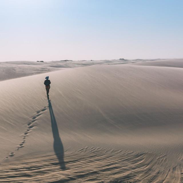 """""""Desert Nomad"""" stock image"""