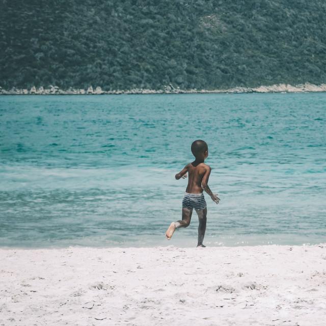 """""""Beach Boy"""" stock image"""