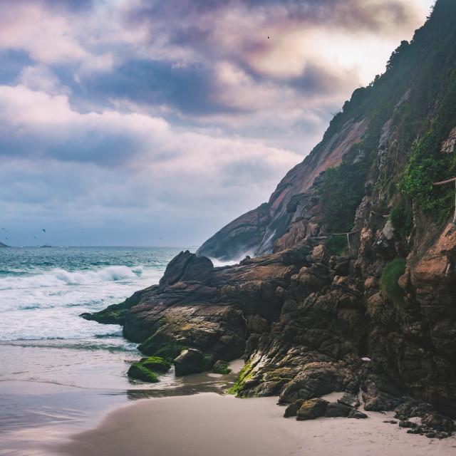 """Rough Beach"" stock image"