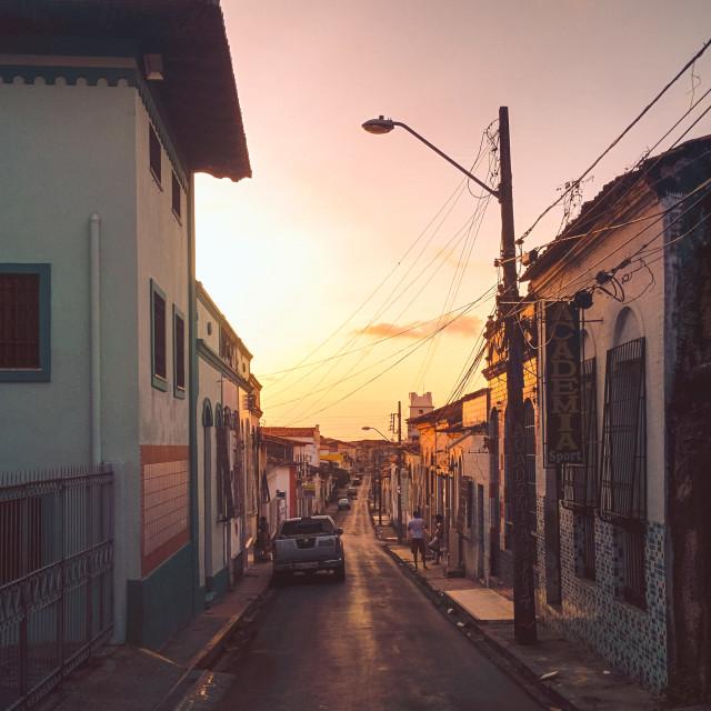 """Streets of São Luís"" stock image"