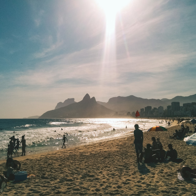 """Ipanema Beach"" stock image"