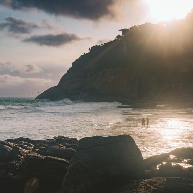 """Joatinga Beach"" stock image"