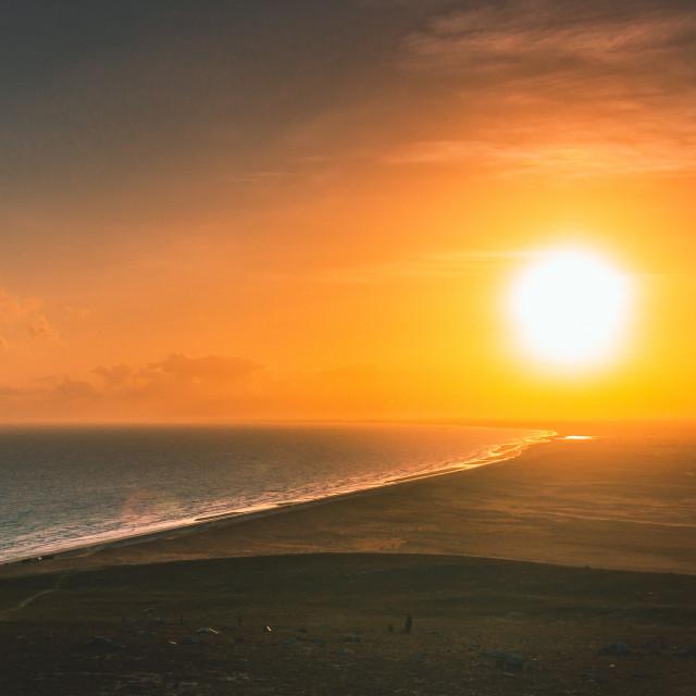 """Sunrise in Jericoacoara"" stock image"