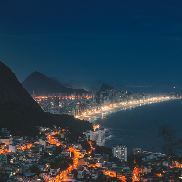 """Rio from a Favela"" stock image"