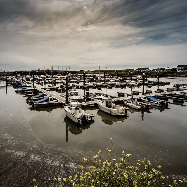 """Burry port harbour"" stock image"