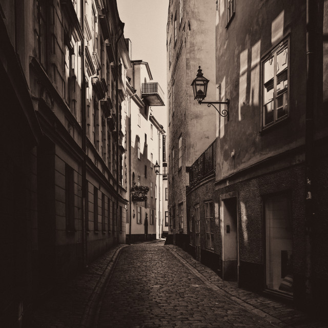 """Old Town Street Stockholm"" stock image"