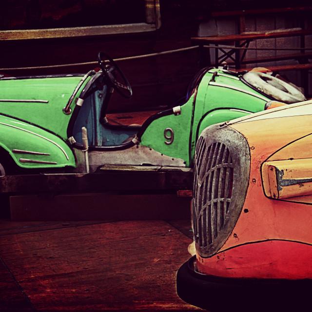 """vintage bumper cars"" stock image"