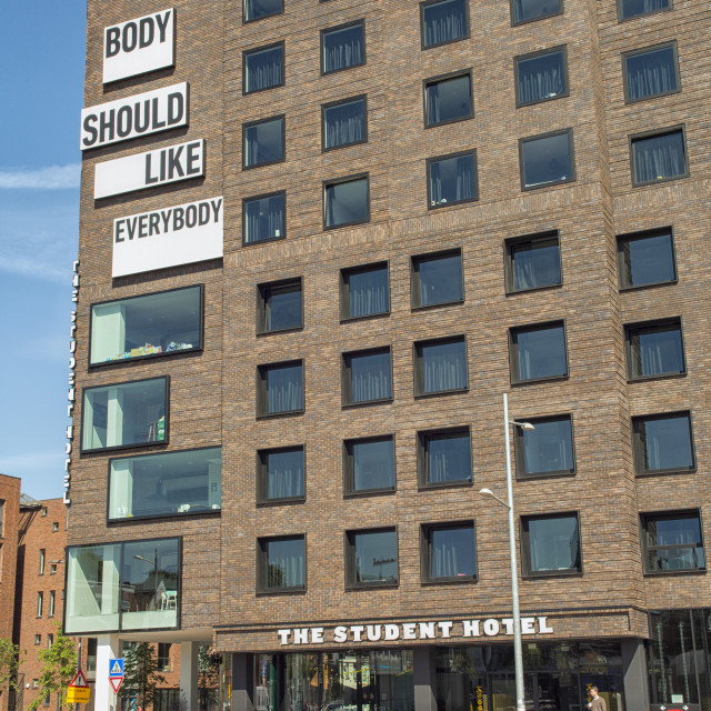 """Student hotel in Groningen"" stock image"