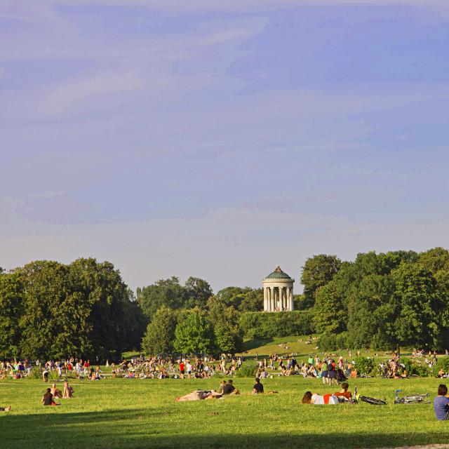 """Munich , Englischer Garten on a summer day"" stock image"
