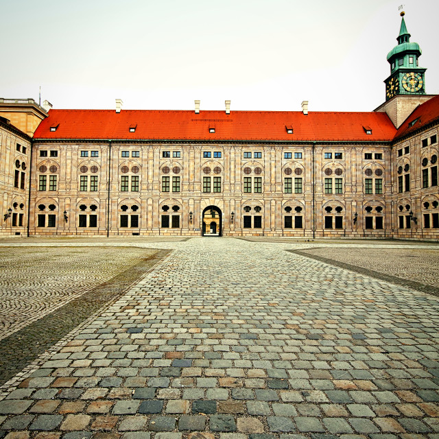 """Munich, Residenz Palace, yard"" stock image"
