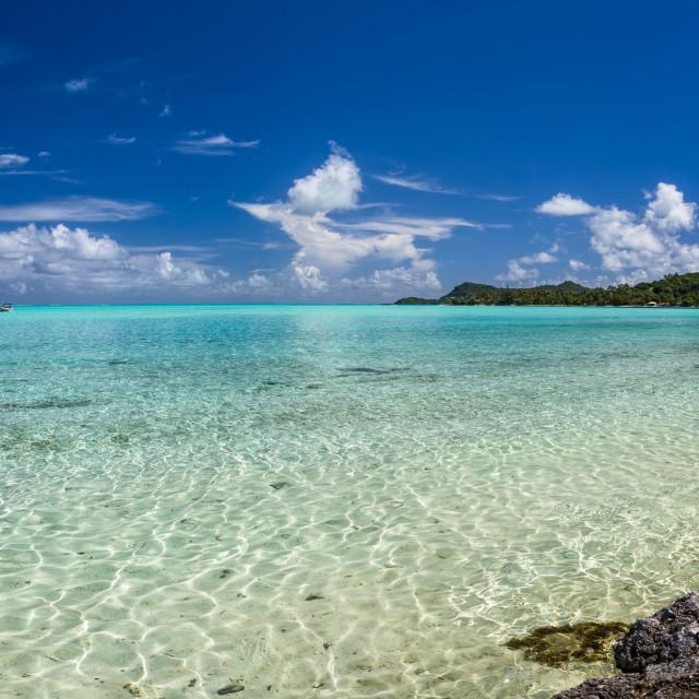 """""""Bora Bora Beach Tahiti"""" stock image"""