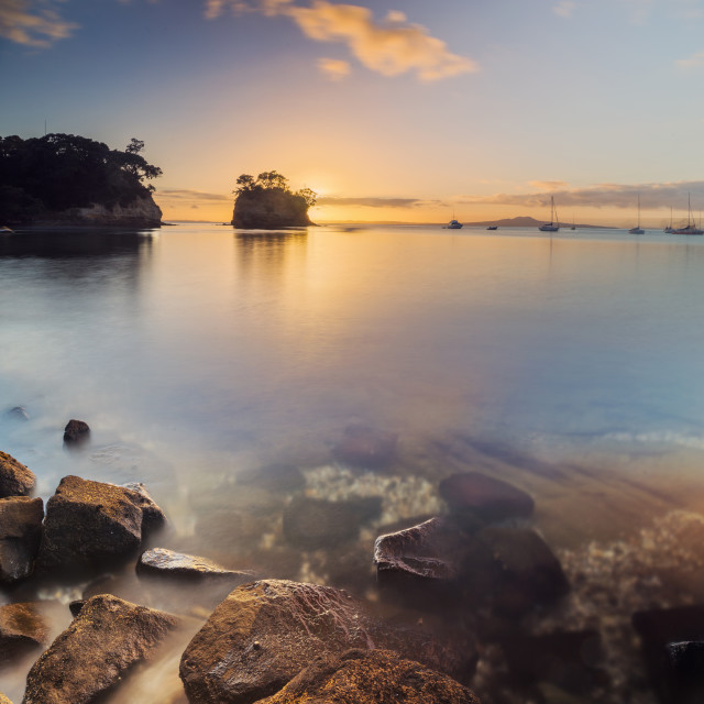 """Waiake Beach Auckland New Zealand"" stock image"
