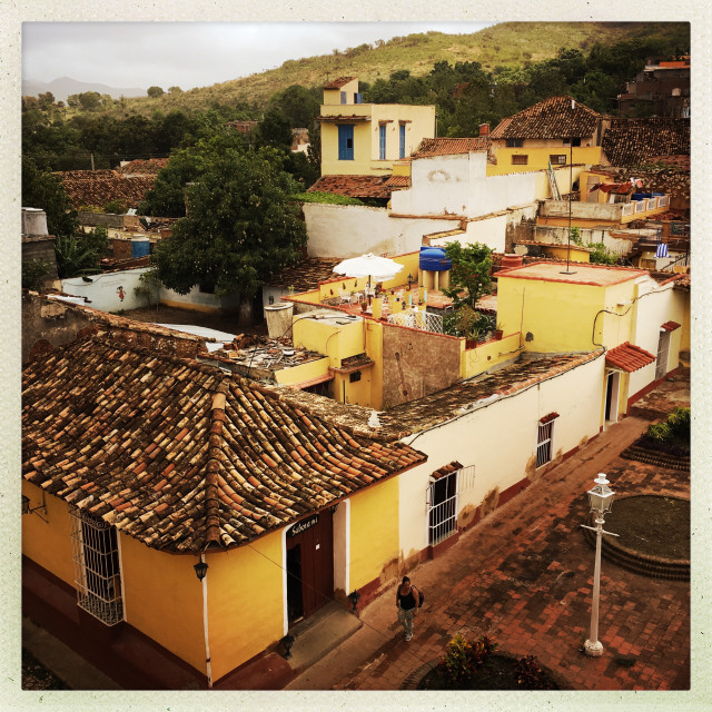 """""""Old Town Trinidad"""" stock image"""