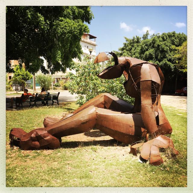 """""""Metal Sculpture in Havana Park"""" stock image"""