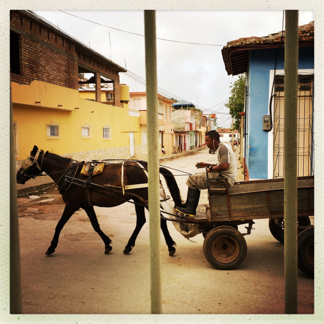 """Morning Traffic in Trinidad"" stock image"