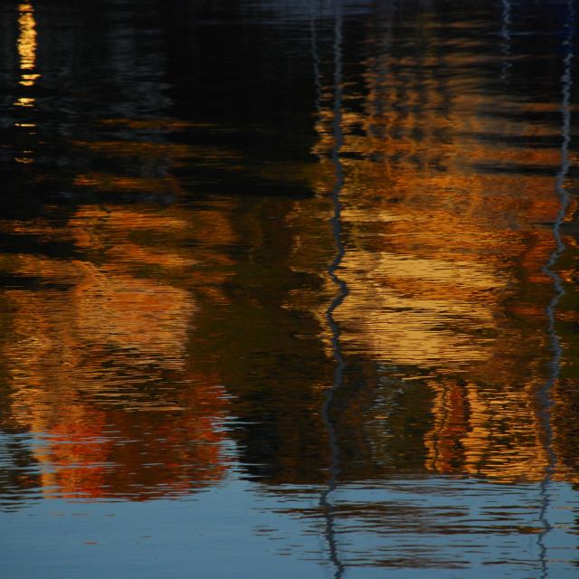 """Ripples in the Reflection"" stock image"