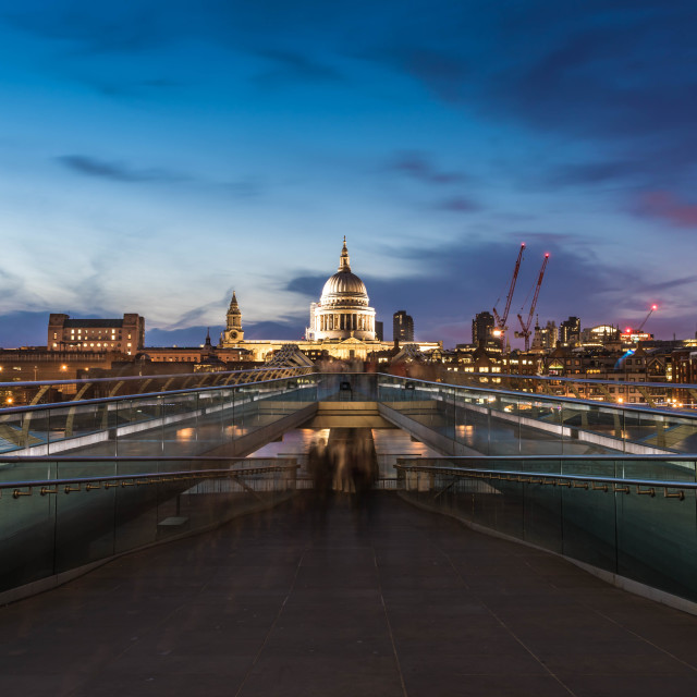 """St Paul's Dusk"" stock image"