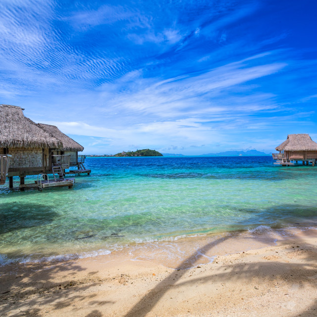 """Island Life - Bora Bora Tahiti"" stock image"