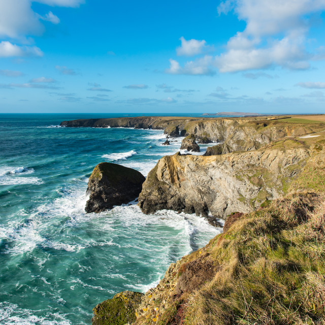 """The North Cornwall Coast"" stock image"