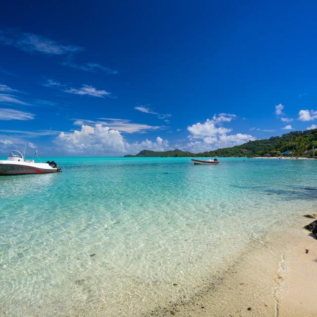 """Tourist Boats Bora Bora Tahiti"" stock image"
