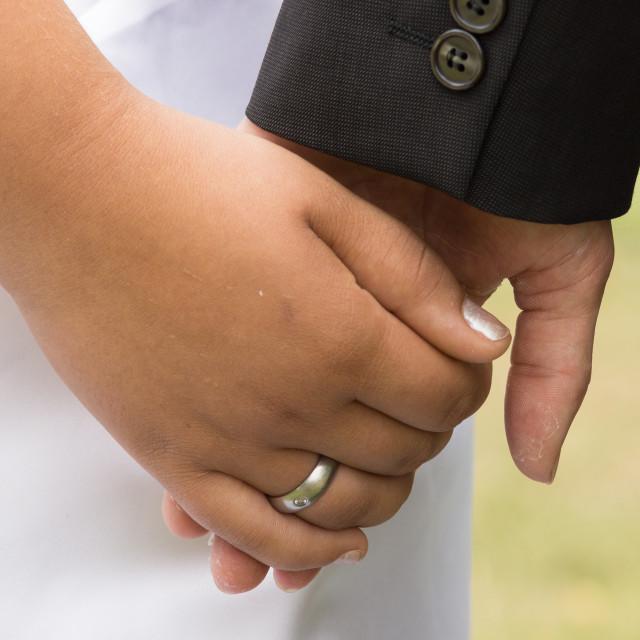 """Bride and bridegroom"" stock image"