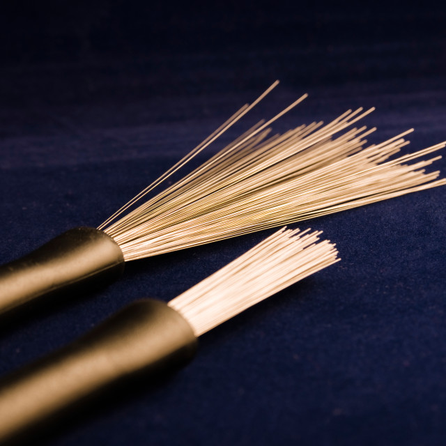 """""""Percussion brushes"""" stock image"""