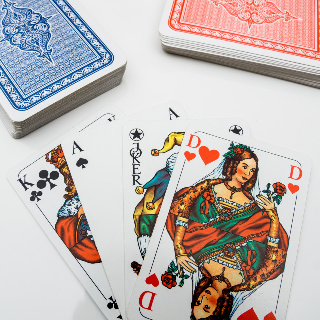 """Playing cards"" stock image"